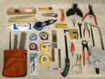 ボード工事、軽鉄工事の七つ道具、ハンドツール